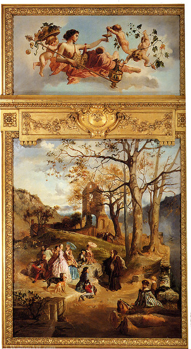 Wikioo.org - The Encyclopedia of Fine Arts - Painting, Artwork by Charles Diodore Rahoult - Allegory of winter