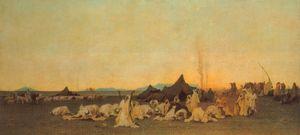 Evening Prayer in the Sahara, (1863)