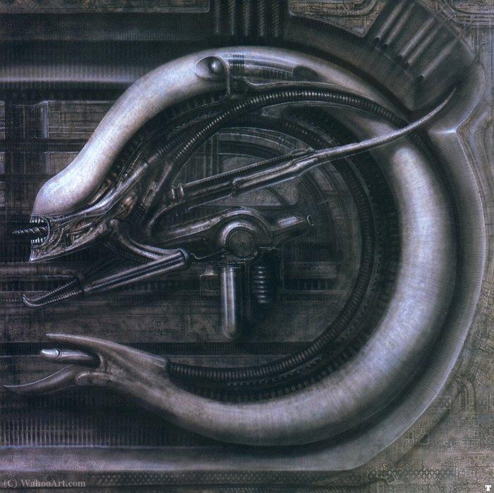 Wikioo.org – L'Enciclopedia delle Belle Arti - Pittura, Opere di H.R. Giger - HR Giger alienmonster V