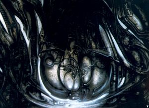 HR Giger biomechanicallandscape sacco