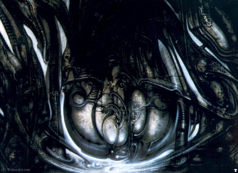 Wikioo.org – L'Enciclopedia delle Belle Arti - Pittura, Opere di H.R. Giger - HR Giger biomechanicallandscape sacco