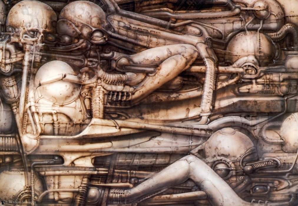 Wikioo.org – L'Enciclopedia delle Belle Arti - Pittura, Opere di H.R. Giger - HR Giger paesaggio XVII