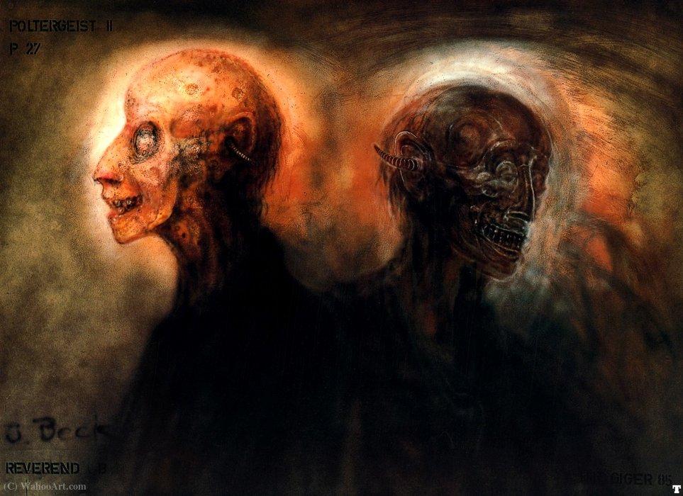 Wikioo.org – L'Enciclopedia delle Belle Arti - Pittura, Opere di H.R. Giger - HR Giger pII reverendo b smokebeast p27
