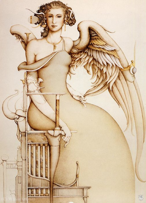 Wikioo.org - The Encyclopedia of Fine Arts - Painting, Artwork by Michael Parkes - The Promise