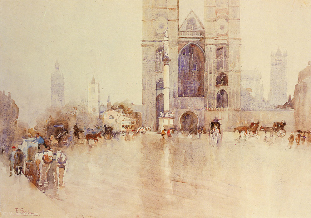 Wikioo.org - The Encyclopedia of Fine Arts - Painting, Artwork by Paolo Sala - Westminister abbey
