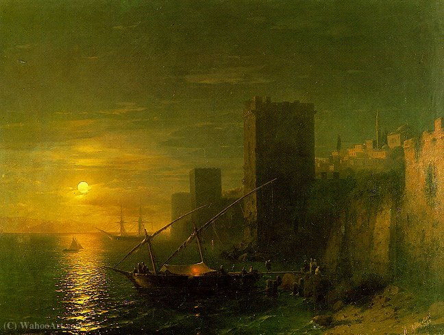 Wikioo.org - The Encyclopedia of Fine Arts - Painting, Artwork by Ivan Konstantinovich Aivazovsky - Untitled (407)