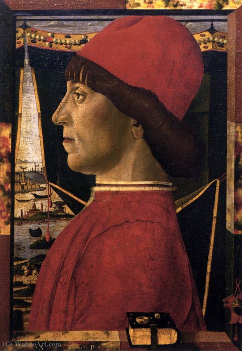 Wikioo.org - The Encyclopedia of Fine Arts - Painting, Artwork by Baldassare Estense - Portrait of a Young Man