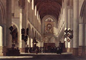 Interior of the St Bavo in Haarlem
