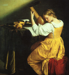 Gentileschi,O. The Lute Player, approx. The National G (1610)