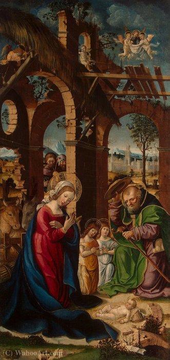 Wikioo.org - The Encyclopedia of Fine Arts - Painting, Artwork by Gandolfino Da Roreto - Nativity - GJ - (4153)