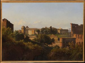 View of the Colosseum and the Arch of Constantine from the Palatine (ca. (1821-25))