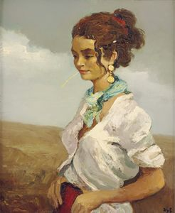 Young Woman of the Camargue