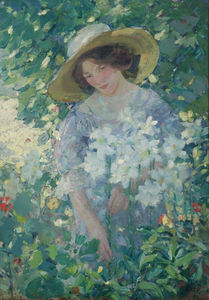 Gathering flowers, (1911)