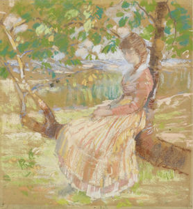 Girl Seated on a Tree, (1913)