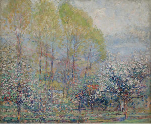 Springtime in Giverny, (1911)