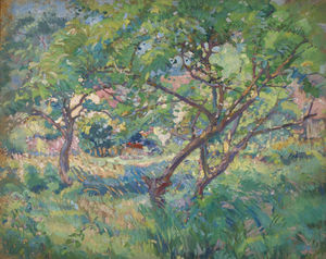 The Artist's House Seen through Trees, (1909)