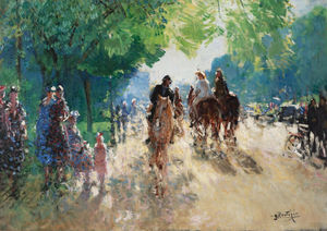 The Forest of Boulogne, the Alley with Horsemen