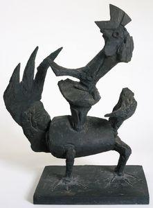 Startled bird, (1955)