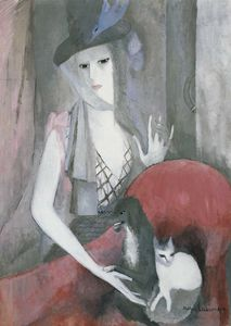 Femme au chien et au chat (1916)