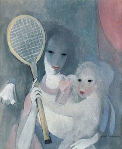 Femme et enfant à la Raquette (1920)