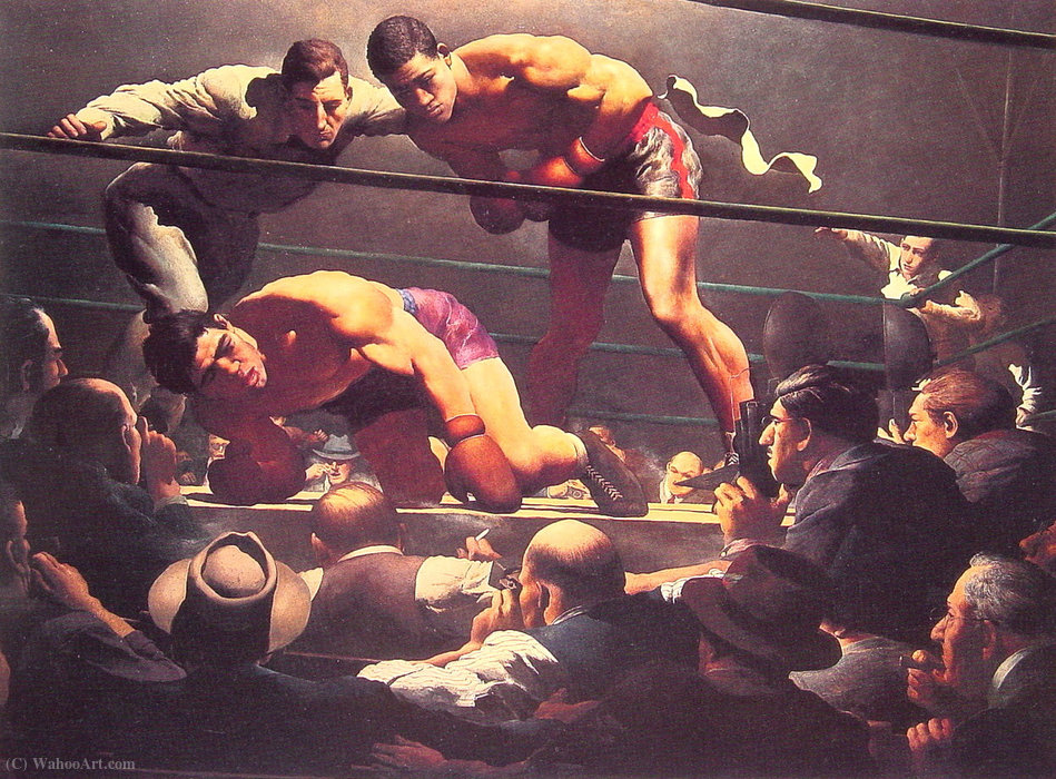 Wikioo.org - The Encyclopedia of Fine Arts - Painting, Artwork by Robert Riggs - The brown bomber