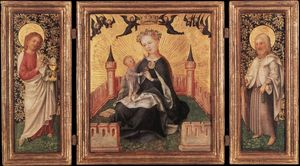 Triptych with the Virgin and Child in an Enclosed garden