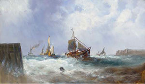 Fishing vessels in a squall