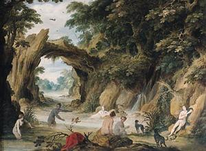 Diana y sus ninfas bañándose después de la persecución