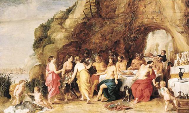 WikiOO.org - Εγκυκλοπαίδεια Καλών Τεχνών - Ζωγραφική, έργα τέχνης Adriaan Van Stalbemt - The Feast of Achelous