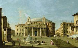 Vista del Panteón en Roma