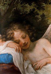 Amor dormido, fresco, Palazzo Pitti
