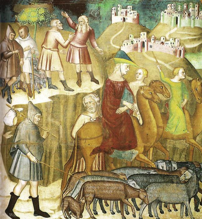 WikiOO.org - Enciklopedija dailės - Tapyba, meno kuriniai Bartolo Di Fredi - Abraham is divided by Lot in the land of Canaan, fresco by Bartolo di Fredi (Duomo di San Gimignano)