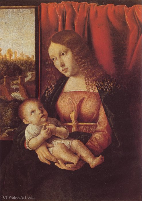 Wikioo.org - The Encyclopedia of Fine Arts - Painting, Artwork by Bartolomeo Veneto - Madonna with child