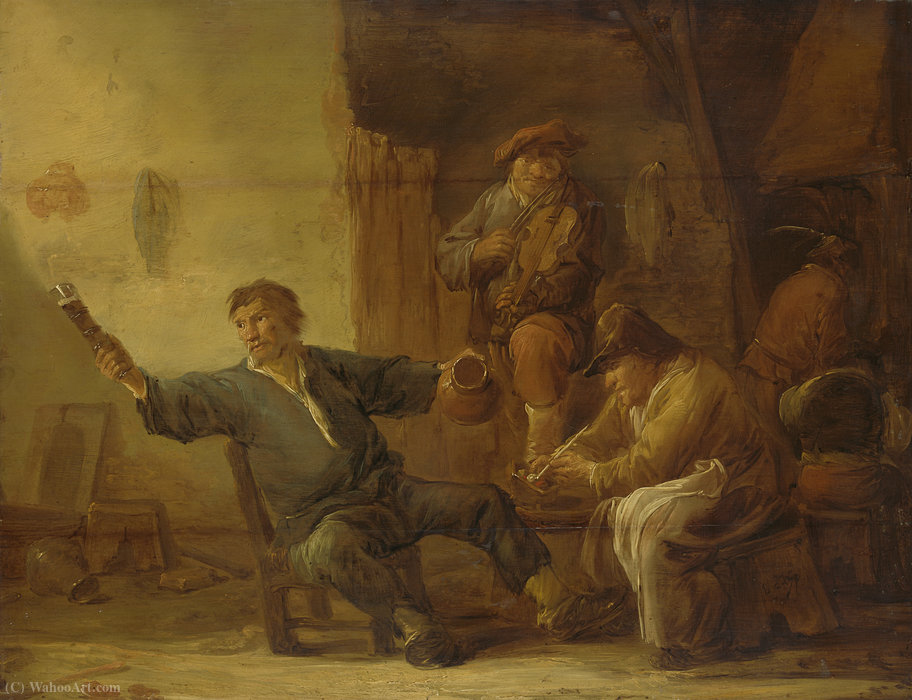 Wikioo.org - The Encyclopedia of Fine Arts - Painting, Artwork by Benjamin Gerritsz Cuyp - Boer interior