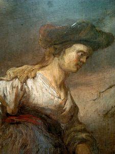 Christ and the Samaritan woman (detail).