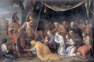 Famille de darius aux pieds d Alexandre