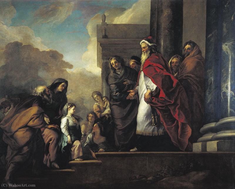 Wikioo.org – L'Enciclopedia delle Belle Arti - Pittura, Opere di Charles De La Fosse - Presentazione Au Temple