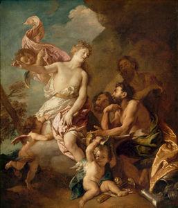 Venere chiede a Vulcano per forgiare armature di Enea .