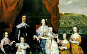 Retrato de Arthur Capel y su familia