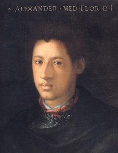 Un retrato de alessandro de' Medici , Duque de florencia