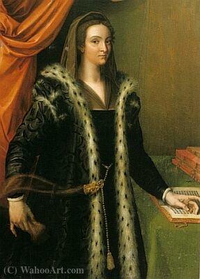 Wikioo.org – La Enciclopedia de las Bellas Artes - Pintura, Obras de arte de Cristofano Di Papi Dell Altissimo - Giulia Gonzaga de luto
