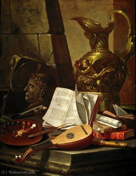Wikioo.org – La Enciclopedia de las Bellas Artes - Pintura, Obras de arte de Cristoforo Munari - Alegoría de las artes