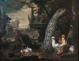 Animales en un jardín