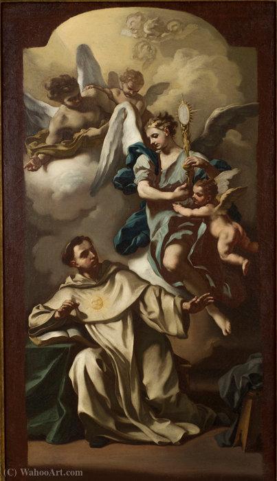 Wikioo.org - The Encyclopedia of Fine Arts - Painting, Artwork by Francesco De Mura - Apparition of the Host to Saint Thomas Aquinas