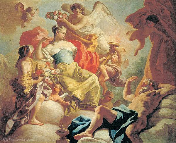 Wikioo.org - The Encyclopedia of Fine Arts - Painting, Artwork by Francesco De Mura - Aurora and Titonus