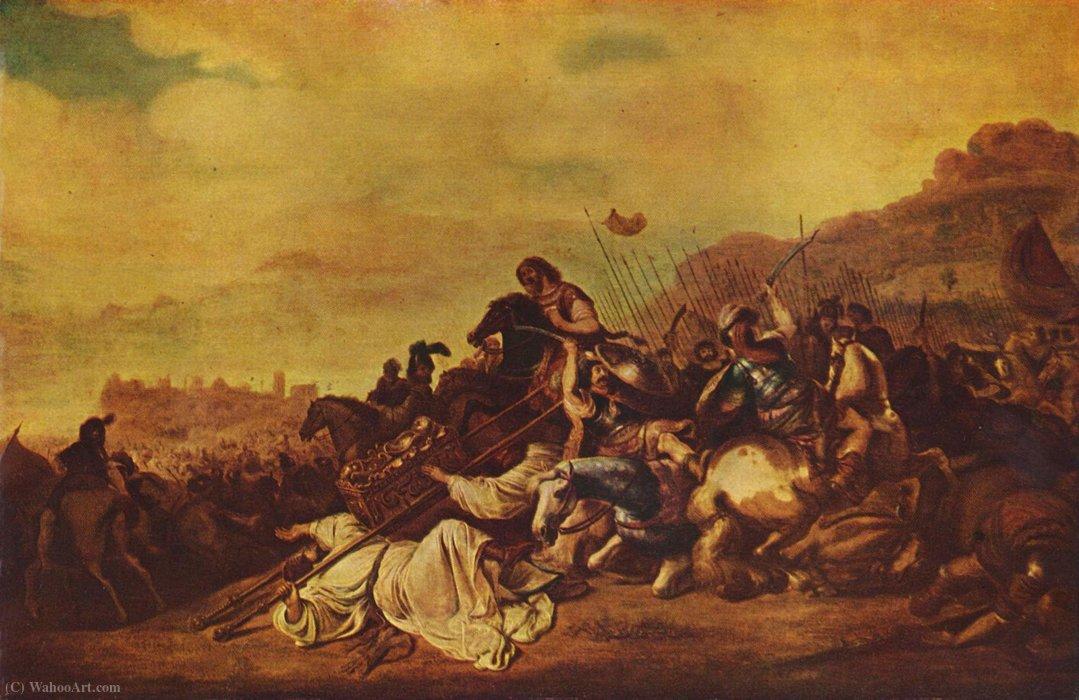 Wikioo.org - The Encyclopedia of Fine Arts - Painting, Artwork by Gerrit Claesz Bleker - The battle of Ebenezer