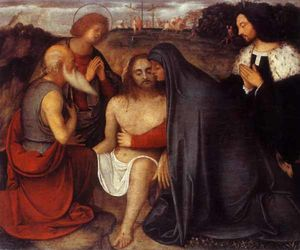 Pieta with St. John the Evangelist, St. Jerome and donor