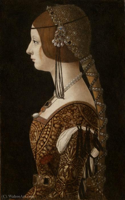 Wikioo.org - The Encyclopedia of Fine Arts - Painting, Artwork by Giovanni Ambrogio De Predis - Bianca maria sforza