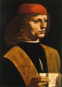 Portrait of a Musician, Attributed to Giovanni Ambrogio de Predis or Leonardo