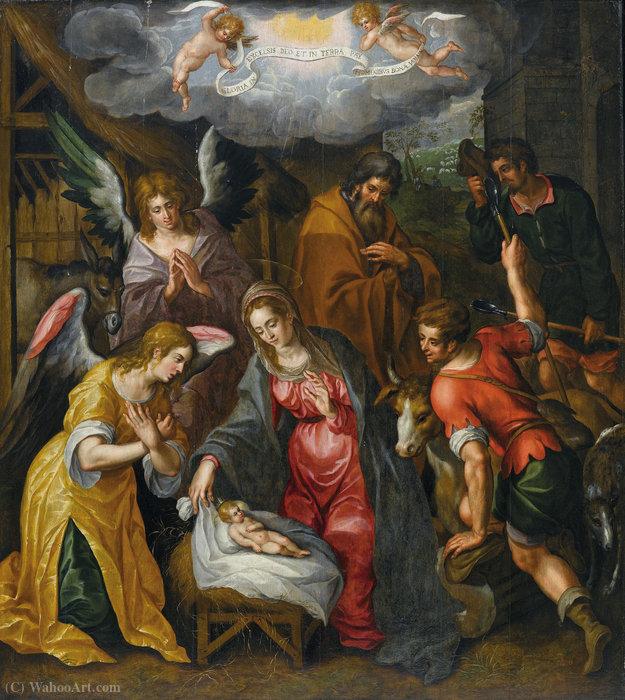 Wikioo.org - The Encyclopedia of Fine Arts - Painting, Artwork by Hendrick De Clerck - Geburt christi